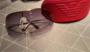 Giorgio  Armani Angular Shaped Sunglasses gold-colored-brown violet
