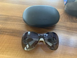 Giorgio  Armani Gafas de sol ovaladas blanco-gris oscuro
