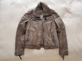 Gipsy Leather Jacket grey brown