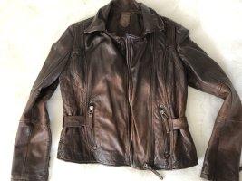 Gipsy Leather Jacket brown-dark brown