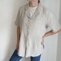 Gira Puccino 46 beige nude Bluse Hemd Cardigan Strickjacke Oversize Pullover Pulli Sweater Oberteil Top True Vintage