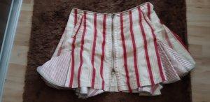 Asymmetry Skirt natural white-dark red