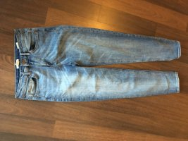 H&M Bib Denim azure-steel blue cotton