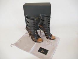 Giuseppe Zanotti Peep Toe Booties black-silver-colored