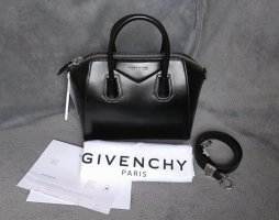 Givenchy Bolso barrel negro-color plata Cuero