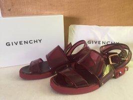 Givenchy Sandalo con cinturino bordeaux-oro