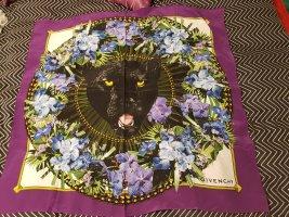 Givenchy Bufanda de seda violeta oscuro