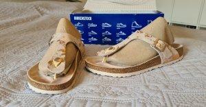 Birkenstock Sandały korkowe  w kolorze różowego złota