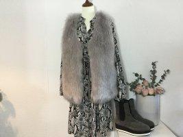 Glamorous Fur vest silver-colored polyacrylic
