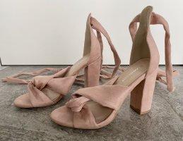 Glamorous - High Heel Sandaletten zum Schnüren in Rosa (ungetragen)