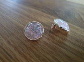 Accessoires Orecchino a vite oro-rosa pallido