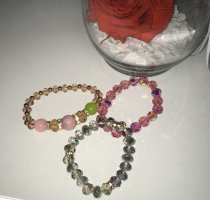 Boutique Ware Bransoletki z perłami Wielokolorowy Szkło