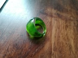 Glasring, Ring, grün, Glas