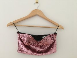 H&M Bustier Top rose-gold-coloured polyamide