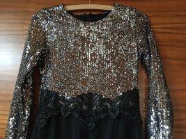 Robe de bal noir-blanc