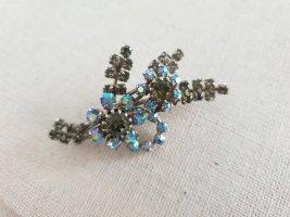 Broche gris foncé-bleu acier