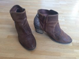 Bullboxer Ankle Boots brown-silver-colored leather