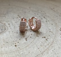 Silver Ear Hoops rose-gold-coloured