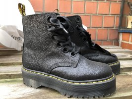 Doc Martens Platform Booties black-silver-colored