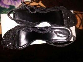 Glitzer High-Heels Sandaletten