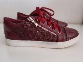 Glitzer Sneaker in Kirsche