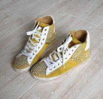 Helen Yoi Sneaker alta arancione chiaro Pelle