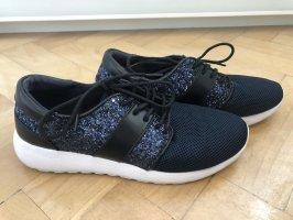 Glitzer sneaker von Zara blau/schwarz