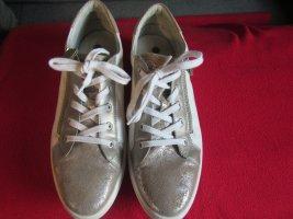 Glitzer Sneaker Weiß Kupfer