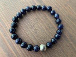 Armband met parels donkerblauw-goud