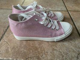 Glitzernde Sneaker mit Keilabsatz 38