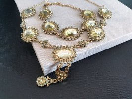 Glitzerndes Collier Armband Ball Edel Schmuck Set Halskette