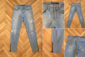 Global Damen Jeans XS hellblau mit Löcher