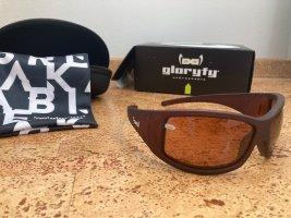 gloryfy Owalne okulary przeciwsłoneczne brązowy