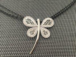 Necklace dark brown-silver-colored