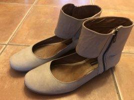 Görtz Shoes Ballerine à bride arrière gris clair-argenté tissu mixte