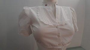 gössl Blusa tradizionale bianco-rosso