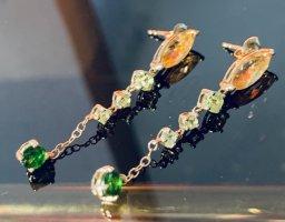 Gold 375 Ohrringe mit Edelsteinen