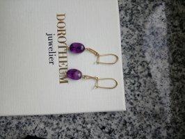 Dangle gold-colored-lilac