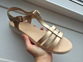 Gold nude Sandalen, Sandaletten von Graceland, Gr. 38 (NEU)