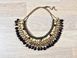 Gold Steine Flecht Statement Blogger Kette von Zara