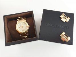 goldene Armbanduhr von Micheal Kors