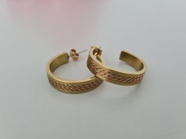 goldene Creolen vintage