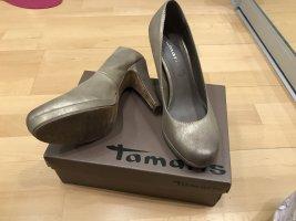 Goldene High Heels Pumps Tamaris Plateau