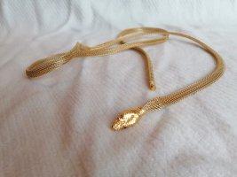 Goldene Kette, Schlangenkette, Gold Kette, Schlangenmuster