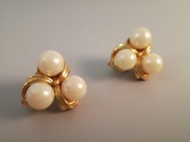 Vintage Earclip gold-colored-cream