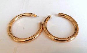 Goldene Ohrringe Hoops von Mango, neu und ungetragen