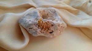 Vintage Boucles d'oreille en or doré métal