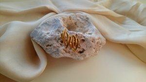 Vintage Pendientes de oro color oro metal