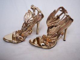 Goldene Sandaletten à la Giuseppe Zanotti, 38, 11cm Absatz, inklusive Staubbeutel, von Shein