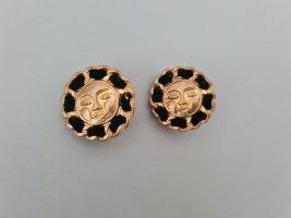 Vintage Oorclips goud-zwart